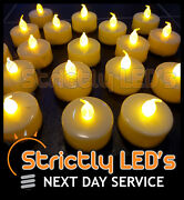 Led Flickering Battery Operated Tea Light Candles Tealights Weddings Flameless