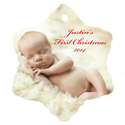Custom Personalized Christmas/holiday Ornaments W/ Your Photo/picture Text