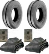 Two 4.00-19 400-19 400x19 F-2 Tri 3 Rib Front Tractor Tire With Two Tubes