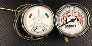 Fordson Super Major Tractor Temperature Gauge And Tachometer With Internal Lights