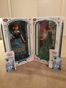 Disney Frozen Fever Anna And Elsa 17and039and039 Doll Set 1/5000 Limited Edition Set