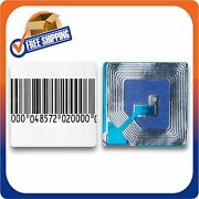500 Paper Security Label 1.5x1.5 Inch Rf 8.2mhz Barcode Eas Checkpoint Compatibl