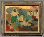 Early 20th Century South-american Wedding Oil Painting