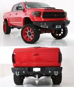 Smittybilt Front/rear D-ring Bumper Set And Led Lights For 2014-2015 Toyota Tundra