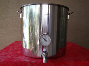 Jarhill Stainless Steel Brew Kettle Mash Tun W/thermometer And Valve Avail 4 Sz