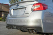 For 15-up Wrx Sti Axie Back 4 Double Wall Quad Burnt Tip Exhaust Muffler Delete