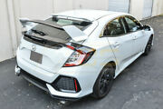 For 17-up Civic Hatchback Type R Style Carbon Fiber Rear Trunk Wing Spoiler