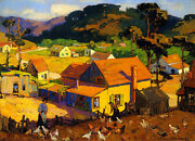 Afternoon Idyl, Cambria  By Franz Bischoff Giclee Canvas Print Repro