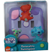Light Switchplate Cover Decorative Double Toggle Blue's Clue Nick Jr Ages 3+ New