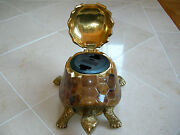 Maitland Smith Tiger Pen Shell Turtle Motif Phone Or Ipod Charger Station Dock