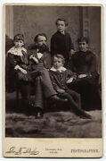 Cabinet Card Handsome Family Portrait. Beautiful Children. Yarmouth, Canada.