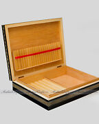 Moroccan Handmade Marquetry Cigar Wood Case - Large Wooden Cigarette Box 9.5w