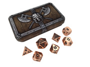 Skull Splitter Dwarven Chest With Copper Color With Black Numbering Metal Dice