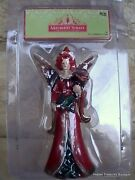 Christmas Village Mayberry Street Accessories-red Fairy Figurine