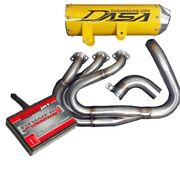 Dasa Racing Yamaha Yxz1000r Full Exhaust System Yellow And Pcv Fuel Controller