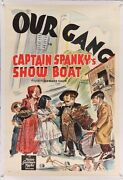 Our Gang Captain Spankyand039s Show Boat Vintage Stone Litho Movie Poster One Sheet