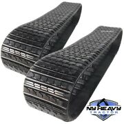 Two Rubber Tracks For Cat 3258624 Caterpillar Asv Rc50 Rc60 247 247b 257 257b