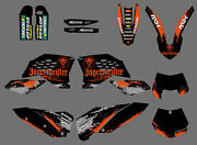 Team Graphics And Backgrounds Decals For Ktm 125-525 530 Sx Sxf 2007 08 09 2010