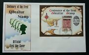 Gibraltar Centenary Of The First Stamp 1986 Miniature Fdc
