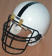 Penn State Brandon Short 1990and039s Game Worn Used College Football Helmet Ny Giants