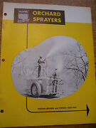 Vintage Oliver Co Iron Age Advertising Brochure -orchard Sprayers- 1953