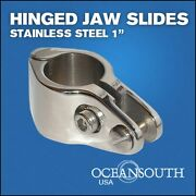 Hinged Jaw Slides 1 Stainless Steel 316-grade Bimini Top Component