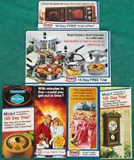 Vintage Lot 6 Gulf Texaco Mobil Oil Promotional Brochures Clock Pots Pans And More