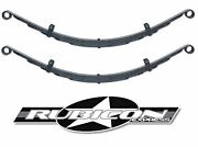 Rubicon Express Soa Extreme Duty 6 Leaf Front Leaf Springs 1.5 For 1987-1995 Yj