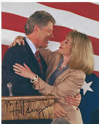 Bill Clinton And Hillary Rodham Clinton Dual Signed Autographed 8x10 Photo