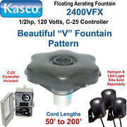 Kasco Marine 2400vfx200 Floating Aerating Fountain 1/2hp 120 Volts 200and039 Cord