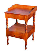Antique American Tiger Maple Stand