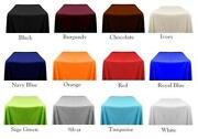 12 Packs Rectangle 90x156 Inch Polyester Tablecloth 6ft Banquet Cover 18 Color