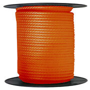 Anchor Rope Dock Line 5/8 X 350and039 Braided 100 Nylon Orange Made In Usa