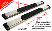 80-96 Ford F-series F-150/f-250sd Regular Cab 5 Chrome Pads Running Step Boards