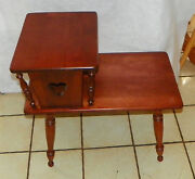 Mid Century Cherry Step End Table / Side Table By Ethan Allen T523