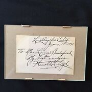 An American Comedy - With Harold Lloyd Autograph