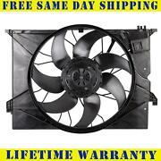 Radiator And Condenser Fan For Mercedes-benz S550 S600 Mb3115123