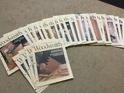 Lot Of 24 Woodsmith Magazine Woodworking 81 To 104 1992 - 1996