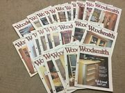 Lot Of 25 Woodsmith Magazine Woodworking 105 To 130 1996 - 2000