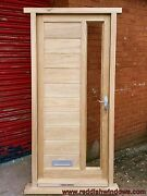 Solid Oak Front Door With Side Vision Panel Made To Measure Bespoke