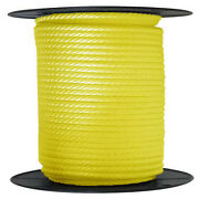 Anchor Rope Dock Line 1/2 X 150and039 Braided 100 Nylon Yellow Made In Usa