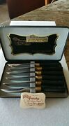Sheffield 24k Gold Stainless Steel Blades By Regent, 6 Knives Never Used