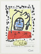 Galerie Matarasso By Joan Miro Signed Lithograph 10x7 1/2