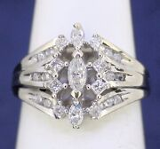 Keepsake 3/4 Ct Diamond Engagement Ring Real Solid 14 Kw Gold 4.5 G Size 6