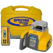 Spectra Gl412 Single Slope Grade Laser With Vertical Alignment And Cr700 Receiver