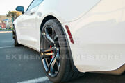 For 16-up Chevy Camaro Extended Style Abs Black Rear Splash Guards Mud Flaps