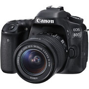 Canon Eos 80d Dslr Camera With 18-55mm Lens- Canon Usa Authorized Dealer