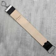 Brown Two Sided Pure Cow Leather Sharpening Strop For Men's Razors And Knives