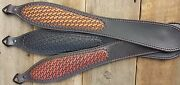 Leather Hand Tooled Rifle Sling Star Basket Weave Pattern Choice Of 3colors
