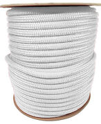 Anchor Rope Dock Line 1/2 X 300and039 Double Braided 100 Nylon White Made In Usa